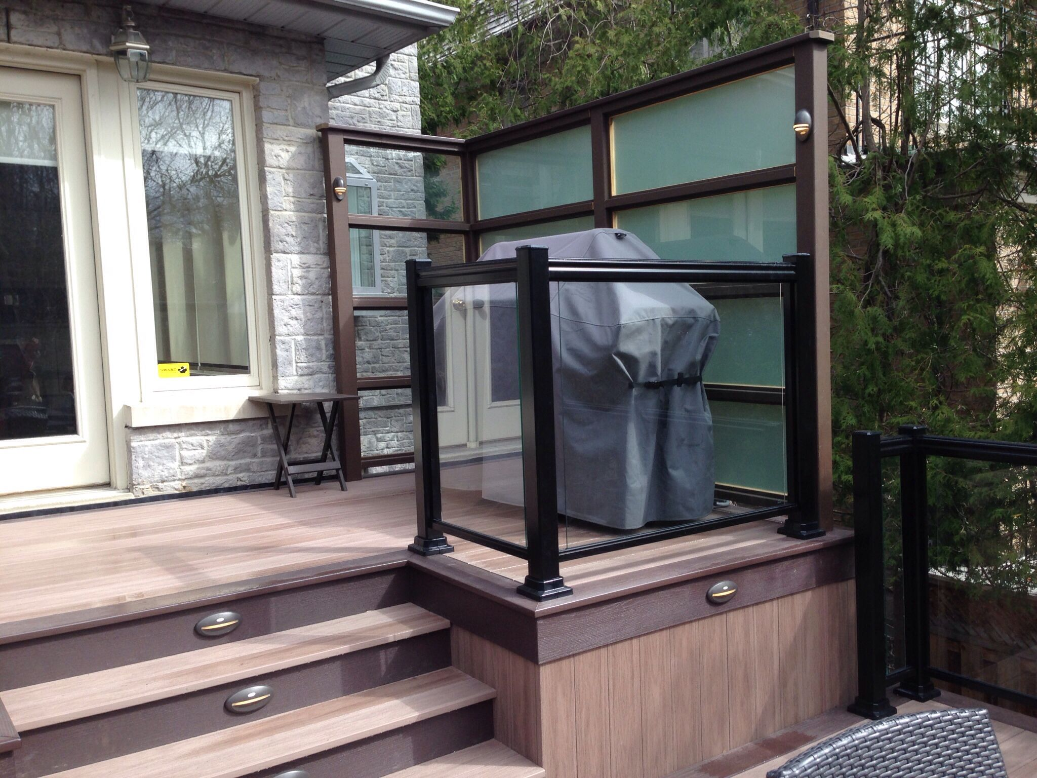 Deckstore Ca Custom Frosted Glass Privacy Screen Designed By Robert Hodichak