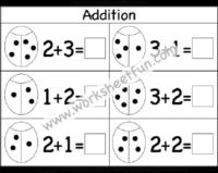 Kindergarten Addition / FREE Printable Worksheets – Worksheetfun