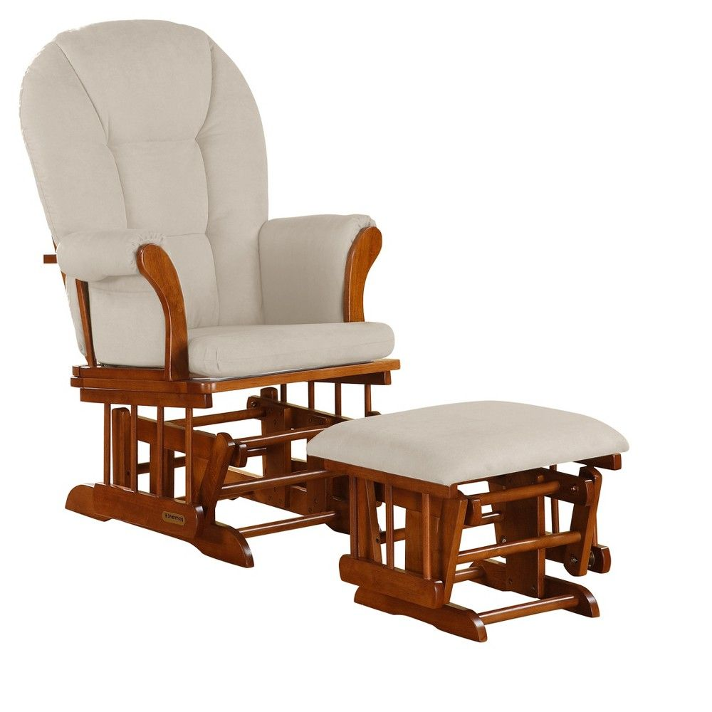 Accent Chair And Ottoman Combo: Shermag Alexis Glider Rocker And Ottoman Combo