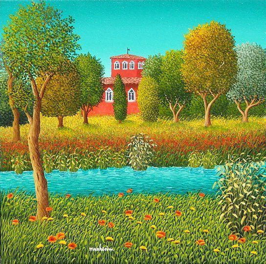 Villa sul Fiume by Cesare Marchesini of Italy
