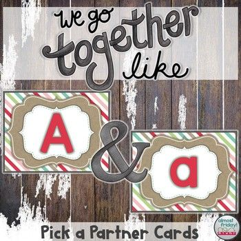 A partner uppercase and lowercase alphabet cards for student grouping pick a partner uppercase and lowercase alphabet cards for student grouping fandeluxe Choice Image