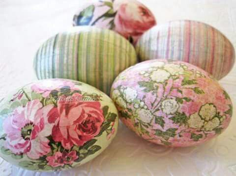 Decopage Eggs
