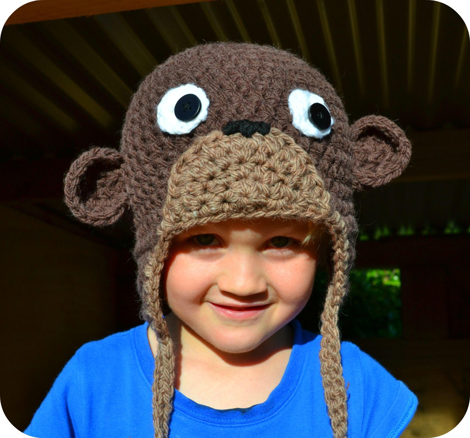 Crochet monkey hat free crochet patterns pinterest crochet cheeky little monkey hat crochet craftsfree bankloansurffo Images