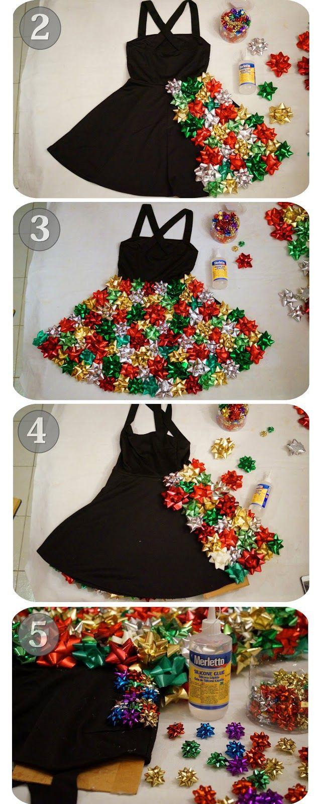 Christmas Bow Dress Tutorial, Part 1 | Crafts \u0026 DIY | Pinterest ...