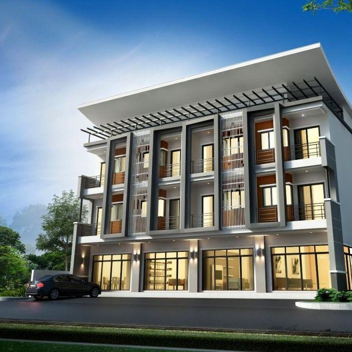 อาคารพาณ ชย สวยๆ สไตล โมเด ร น 3 ช น หน ากว าง 4 6 เมตรล ก 25 ม ขาย อาคารพาณ ชย สถาป ตยกรรมสม ยใหม ภายนอกบ าน การออกแบบภายนอก