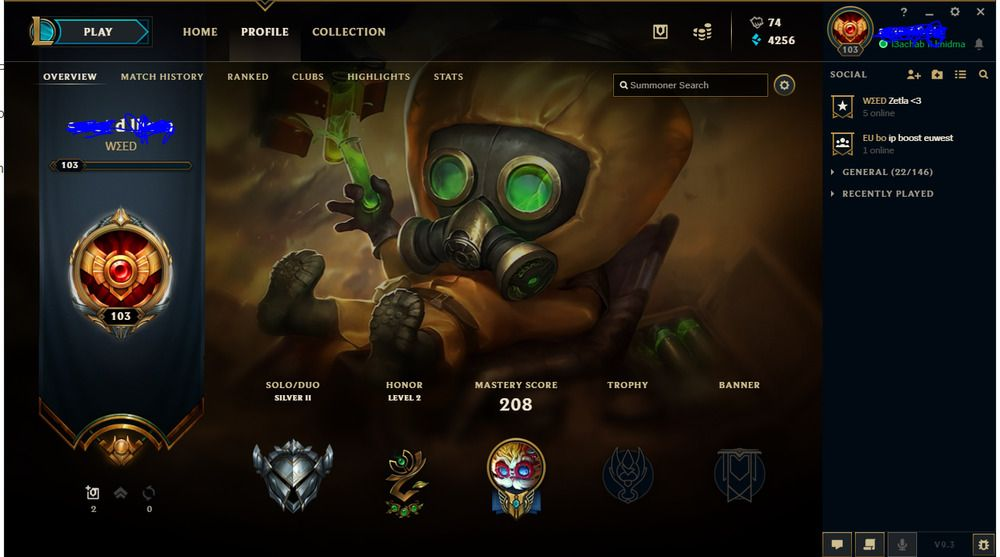 League of Legends Account | EUW | Level 100|| gold last seasson 16