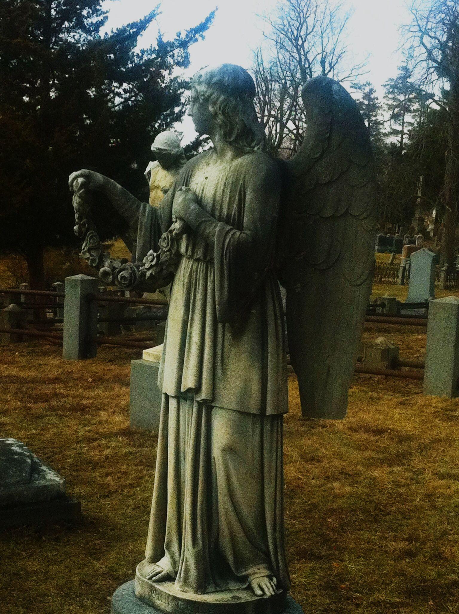 Sleepy Hallow Cemetary, NY Greek statue, Cemetary, Statue