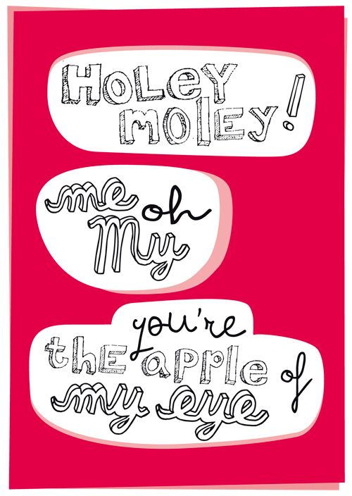 #vtwonen happy card. Holey moley! me oh my you're the apple of my eye