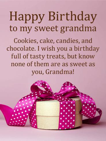 Full Of Tasty Treats Happy Birthday Card For Grandmother Grandmas