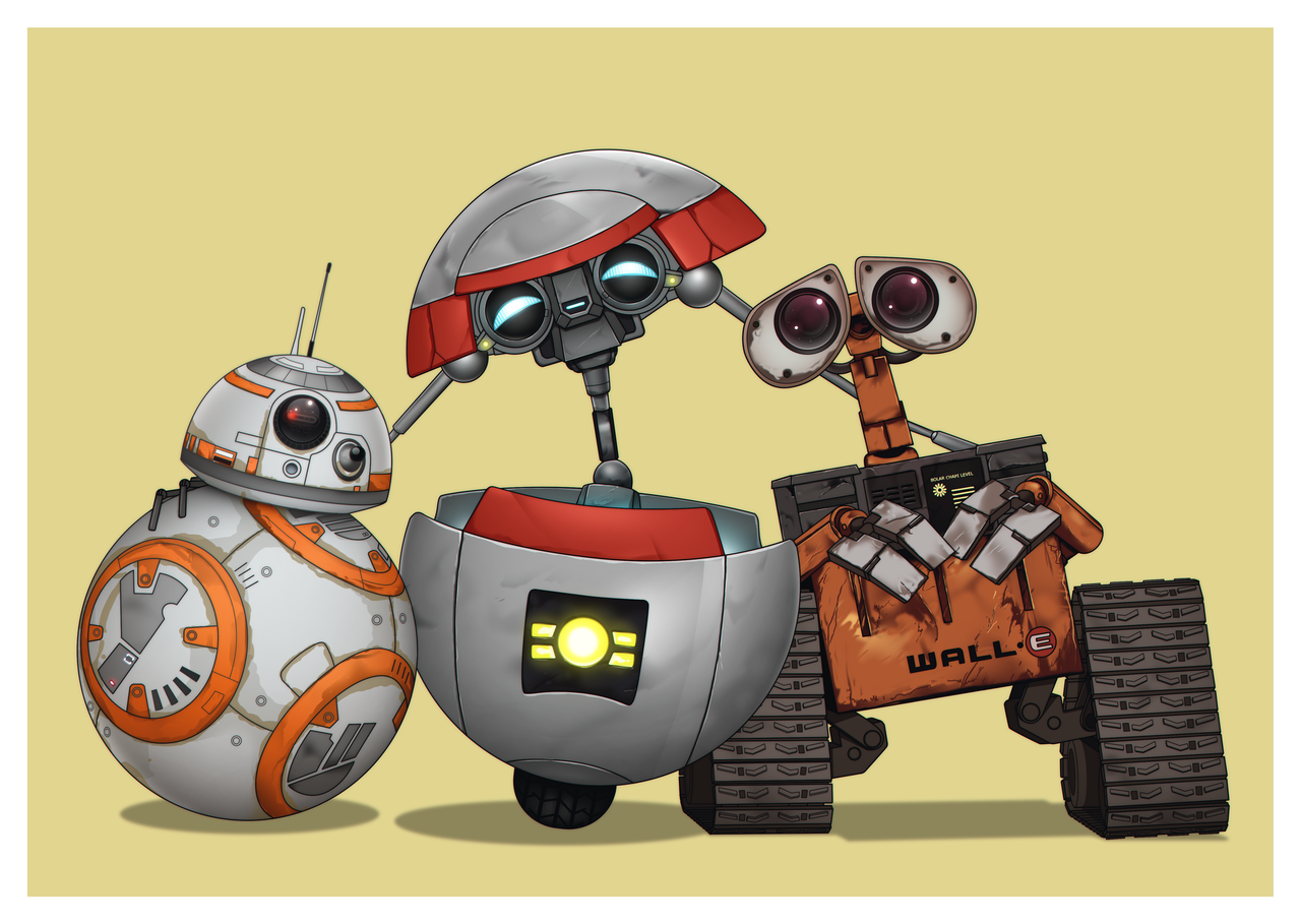 Cute robots :) BB-8 from Star Wars: The Force Awakens plus Gortys ...