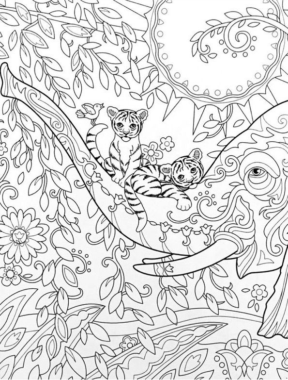 The Art Of Marjorie Sarnat Elegant Elephants Adult Coloring Book 9780989318983