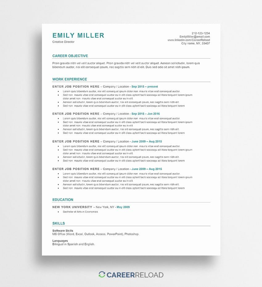 Download Resume Templates Free Beautiful Free Word Resume