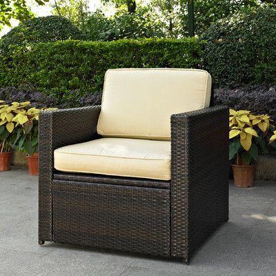 Brayden Studio Crosson Outdoor Wicker Deep Seating Chair With