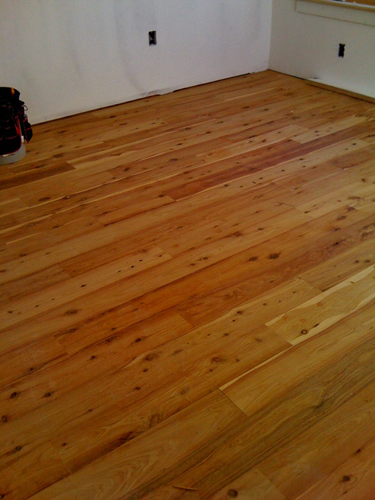 Australian cypress at media room floor hardwood for Australian cypress flooring unfinished