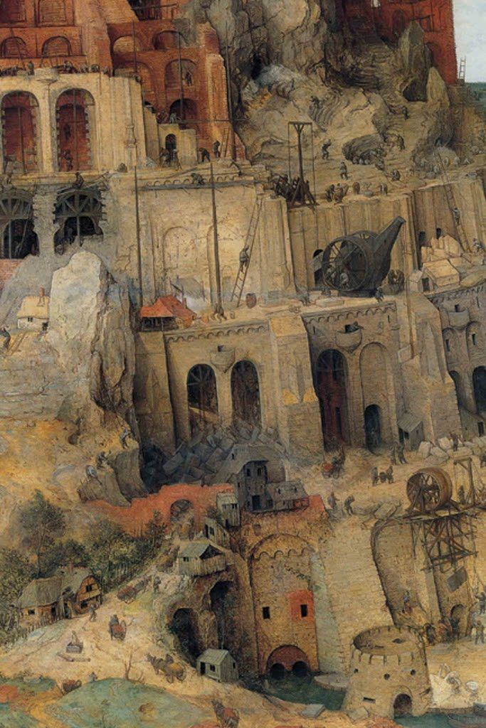 Tower Of Babel Detail No 3 By Pieter Bruegel The Elder Torre