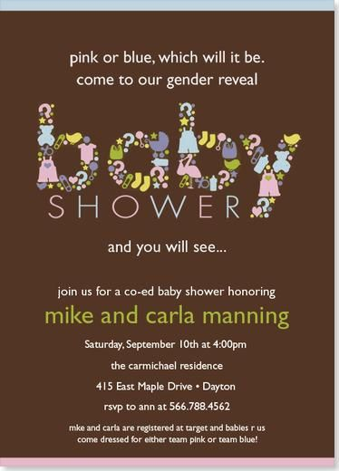 Image detail for Baby Shower Invitations Gender Reveal Baby
