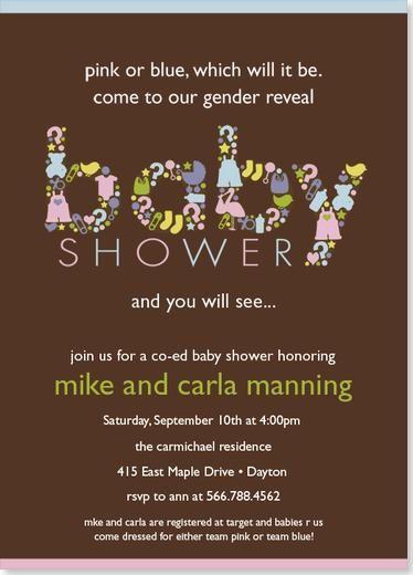 Gender reveal baby shower invitation minnesota pinterest gender reveal baby shower invitation filmwisefo Gallery