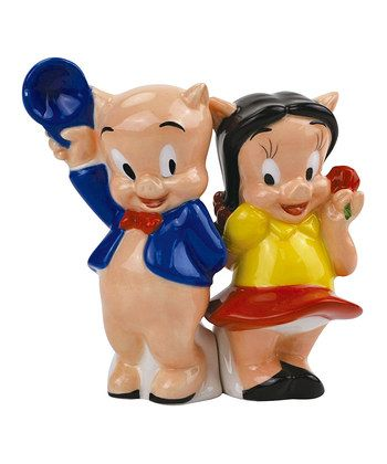 Porky Pig & Petunia Salt & Pepper Shakers