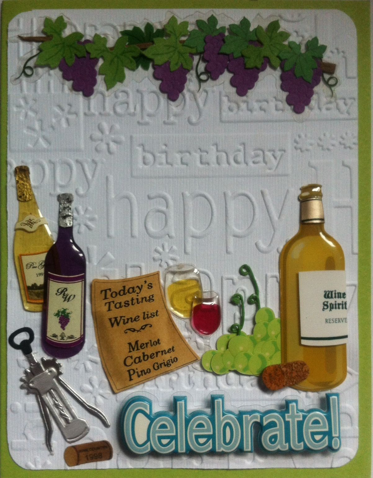 I made this wine themed birthday card for my brother kyles i made this wine themed birthday card for my brother kyles girlfriend jens bookmarktalkfo Gallery