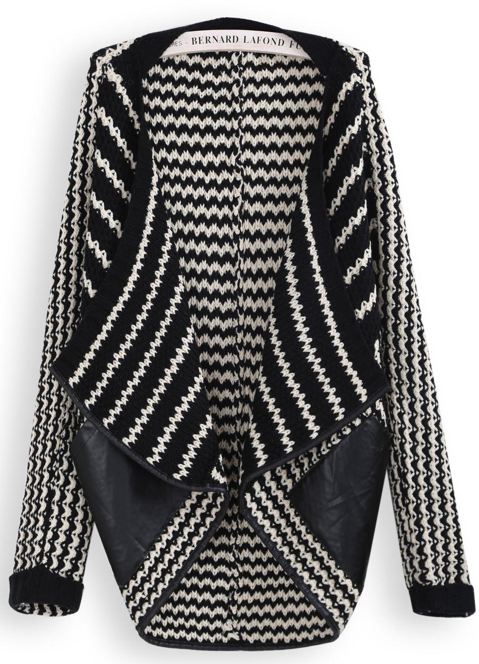 Autumn-Fashion-Women-Sweater-Casual-Hot-Black-White-Striped ...