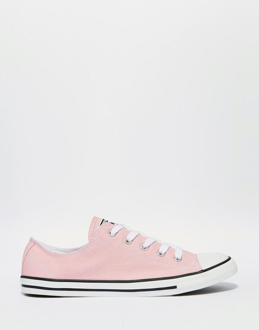 7e1da39b5347 Image 1 of Converse Pink Dainty Chuck Taylor All Star Trainers ...