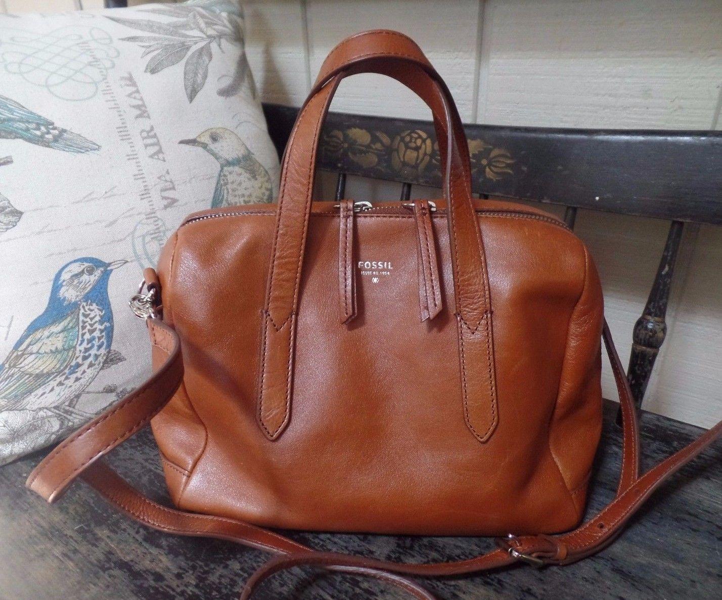 Brown Leather Sydney Satchel Bag Purse