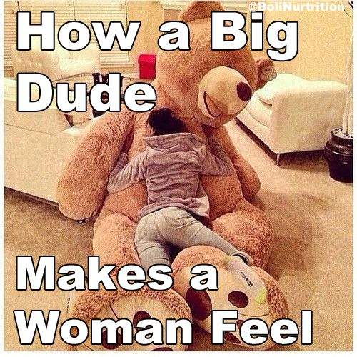 How A Woman Feels When She Is Hugged By A Body Builder Will You
