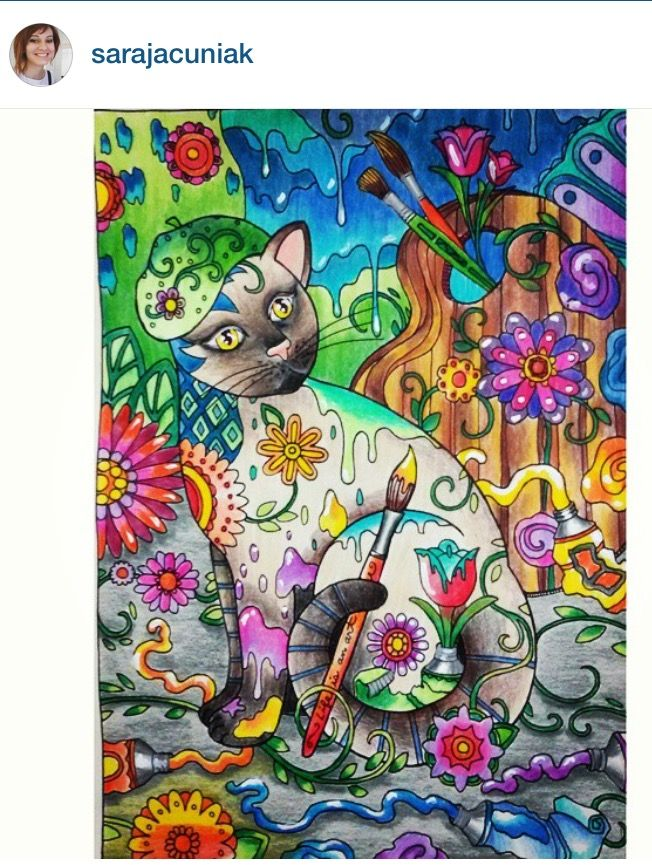#inspirationalcoloringpages #coloringbooks #livrosdecolorir #jardimsecreto #secretgarden #florestaencantada #enchantedforest #páginasparacolorir #johannabasford #reinoanimal #animalkingdom #gatomania