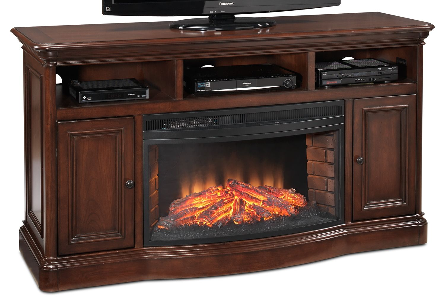 Toscana Entertainment Wall Units Fireplace Credenza Leon
