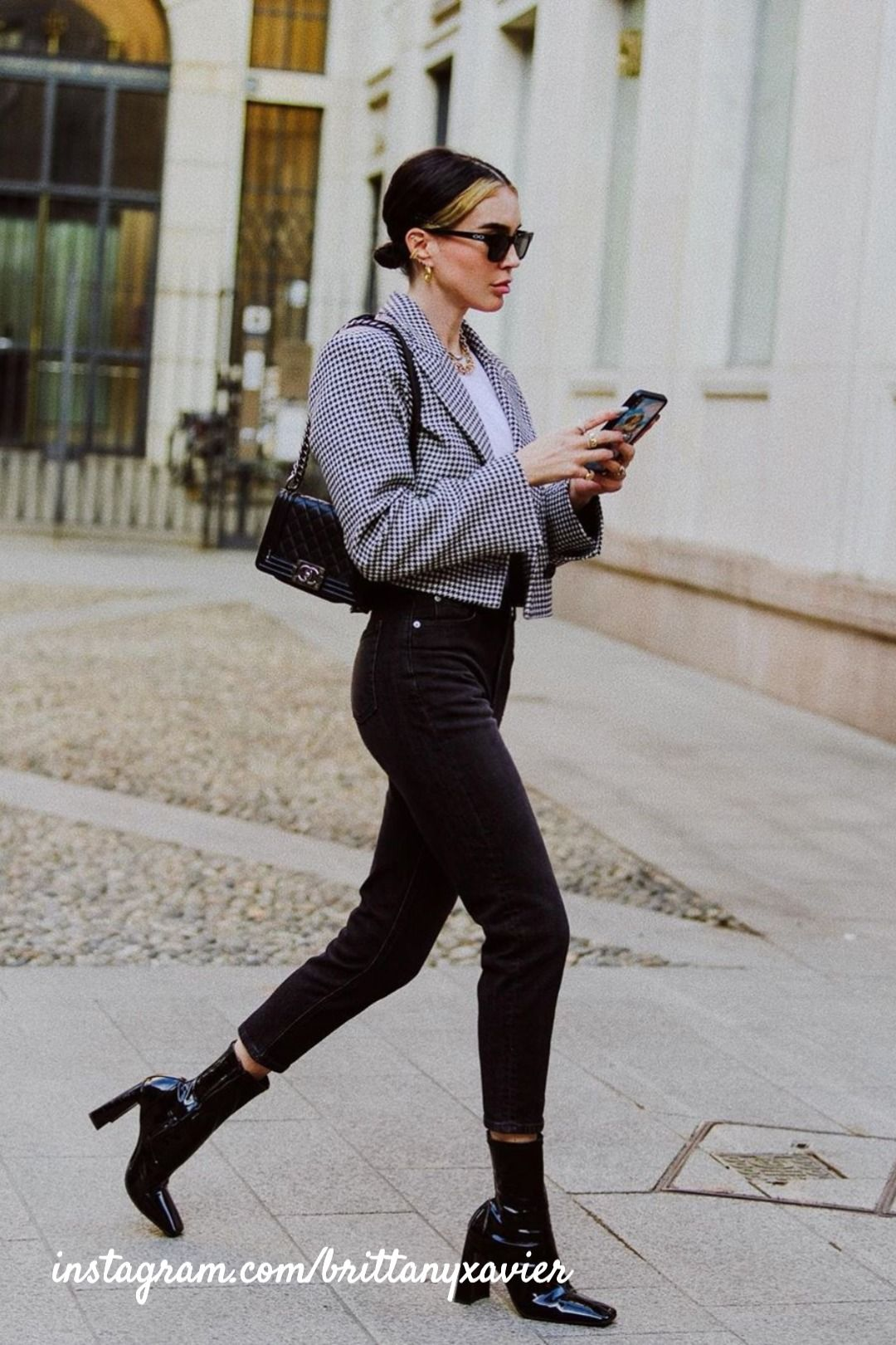 The Best Tiktok Accounts To Follow In Fashion Black Ankle Boots Outfit Black Ankle Boots Fashion