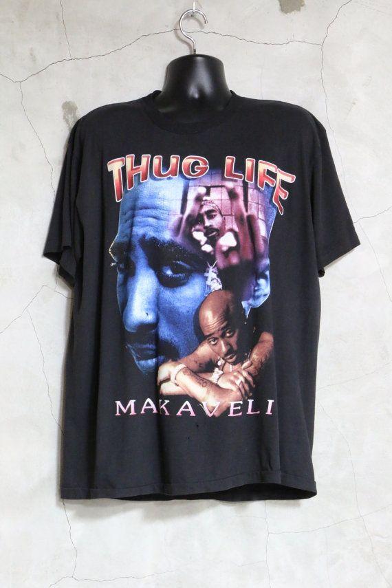 037ca39865b4 Tupac Shakur Makaveli Thug LIfe Vintage t shirt by imtryingtofocus ...