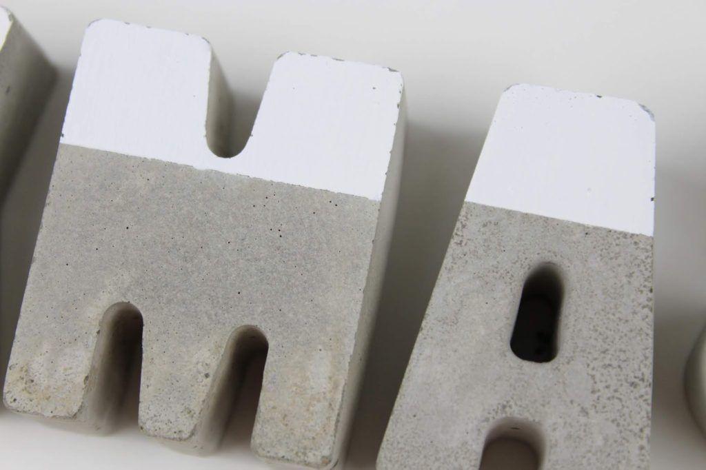 DIY Beton Buchstaben XMAS einfach selber machen – Weihnachtsdeko