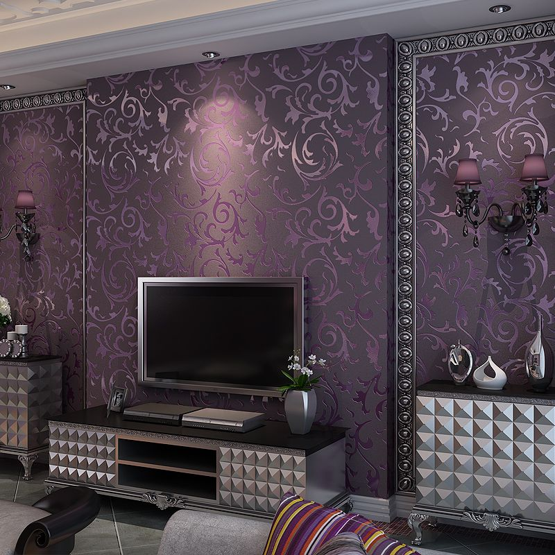 Statement Kalika Plum 96336 Amazon Co Uk Diy Tools Wallpaper Living Room Living Room Tv Living Room Tv Wall