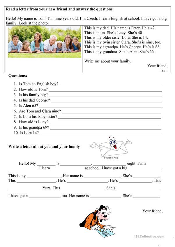 My Family Reading Practice English Esl Worksheets Reading Practice Reading Comprehension Worksheets Family Reading