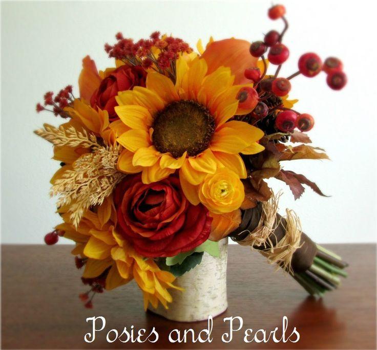 Autumn Bouquets. Bouquet Vintage Millinery Flowers Flocked Forget Me ...