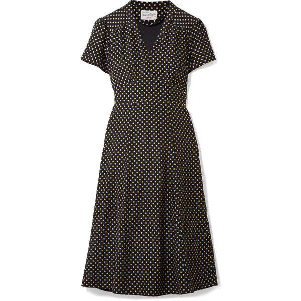 Morgan Metallic Polka-dot Silk Crepe De Chine Dress - Black HVN Lsoiy