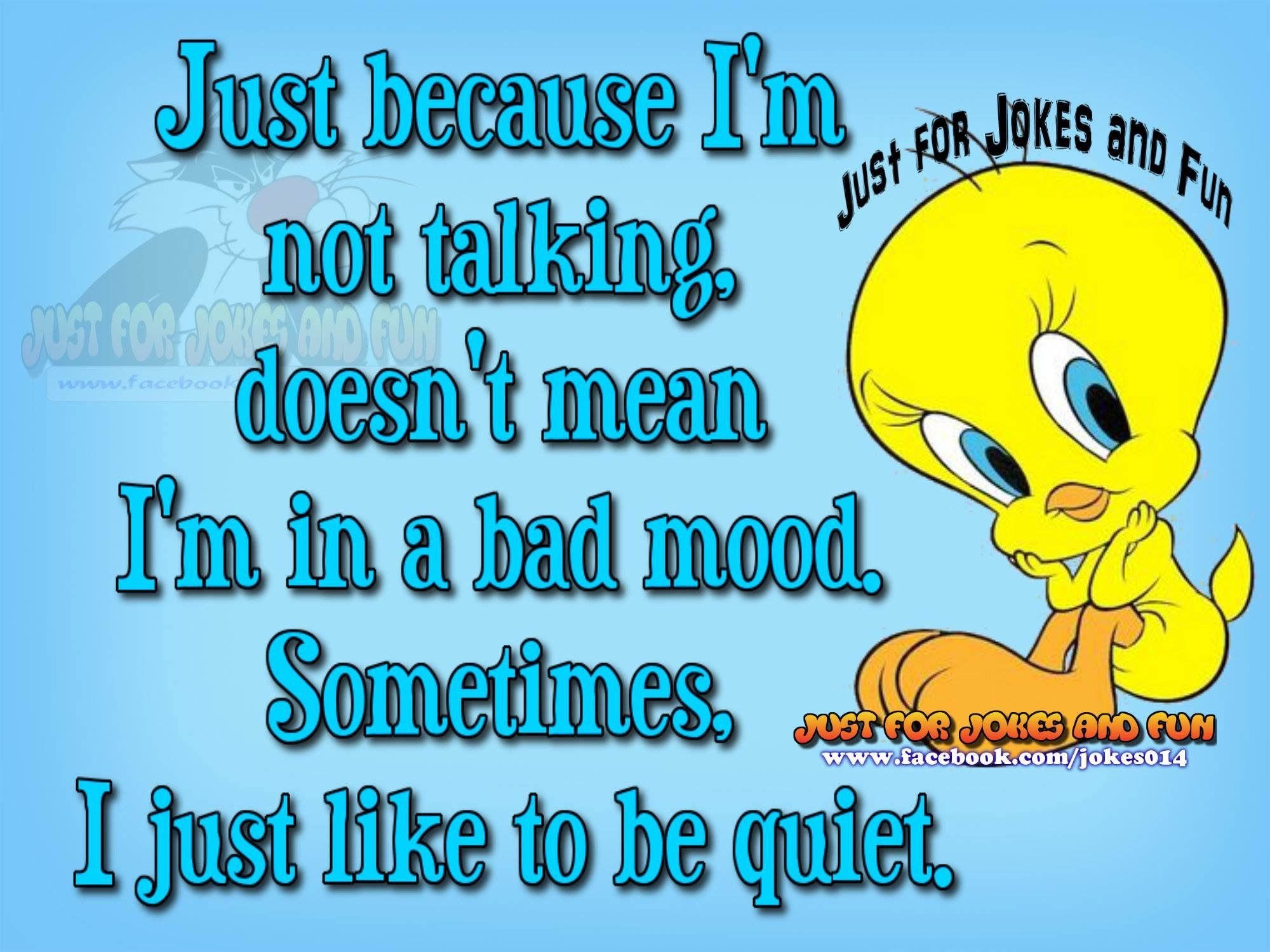 Sometimes I Just Like To Be Quiet Tweety Bird Quotes Bird Quotes Cute Quotes For Kids