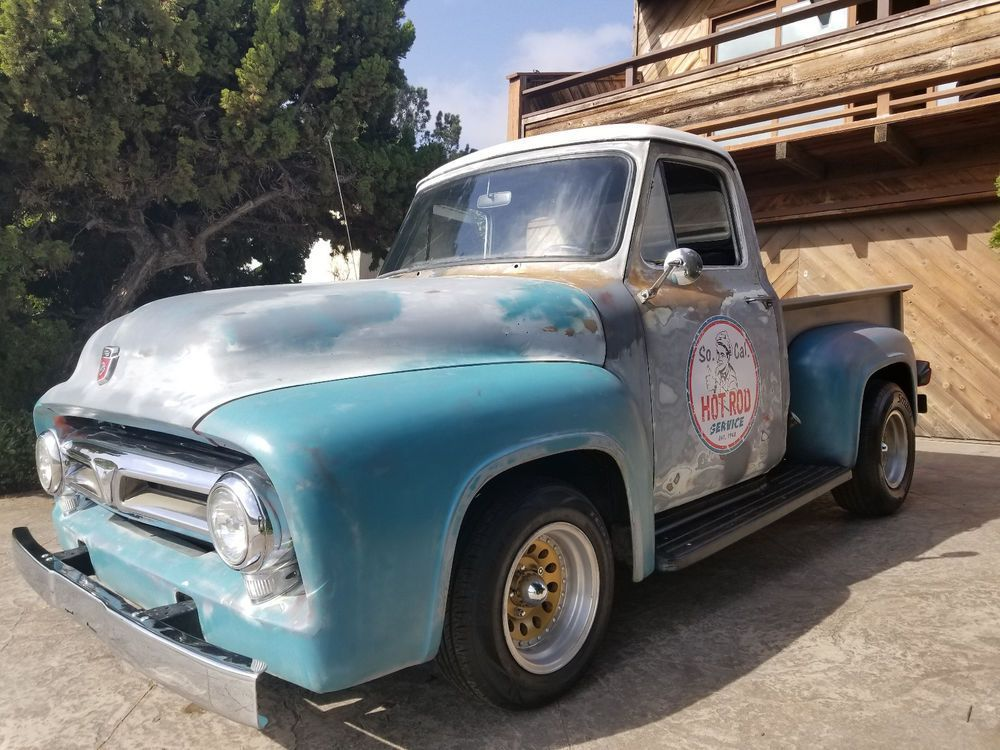 Ebay 1953 Ford F 100 Custom Cab 1953 Forf F100 Short Bed 302 V8