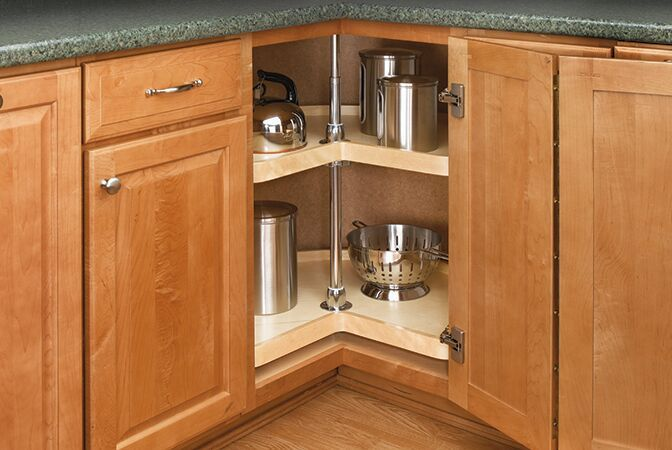 our glide around lazy suzan keeps you from spending more time digging around for your pots and on kitchen organization lazy susan cabinet id=66848