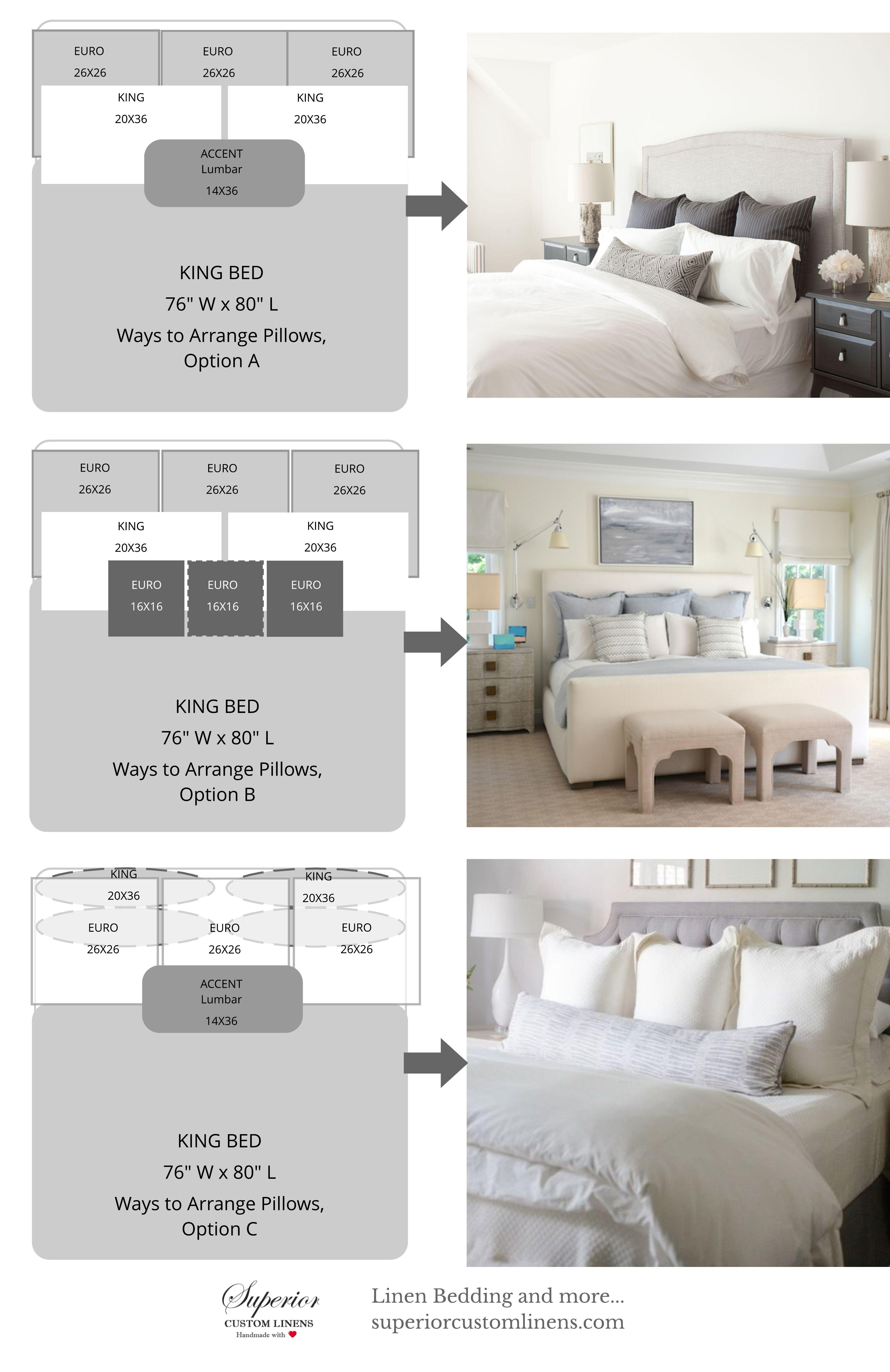 Master bedroom king size bed designs  Ways to Arrange Bed Pillows  Master Room  Pinterest  Bed Bedroom