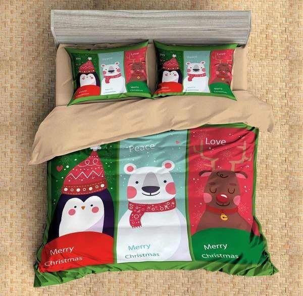 3D Customize Christmas Bedding Set Duvet Cover Set Bedroom Set