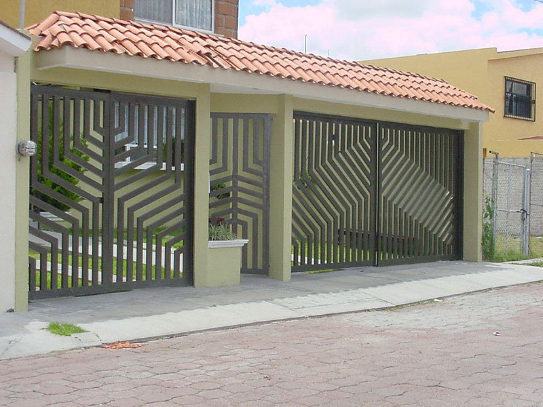 Porton para garage dise o pinteres for Garajes metalicos en bolivia