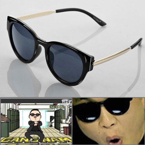 608a4ebeed 1 Pair Hot PSY Gangnam Style Custom Design UV400 Black Sunglasses Glasses  For Dancing Ball Party