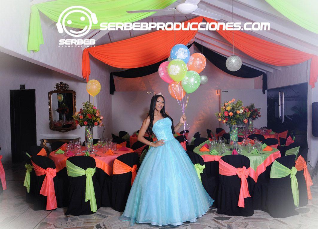 Fiestas tem ticas 15 a os cali tem tica ne n decoraci n for Decoracion en telas y globos para 15 anos