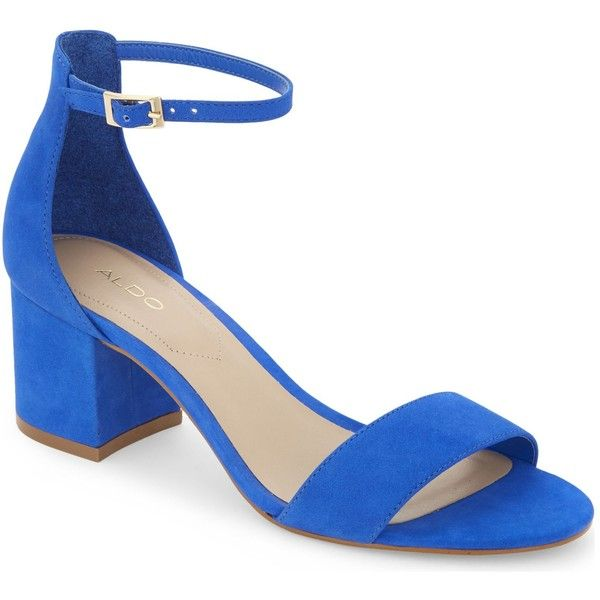 Aldo Villarosa suede heeled sandals ($44) ❤ liked on Polyvore featuring  shoes, sandals