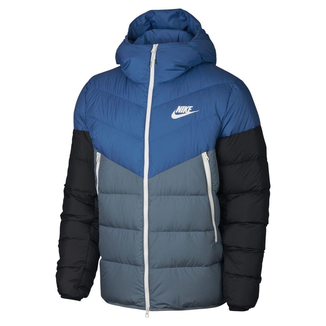 Nike Sportswear Windrunner Down Fill Men S Hooded Jacket Size Hooded Jacket Men Jackets Nike Bomber Jacket [ 1080 x 1080 Pixel ]