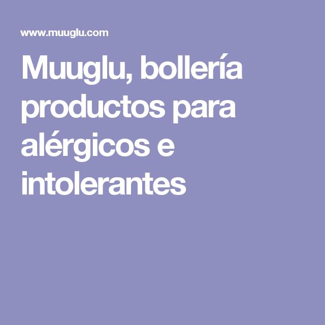 Muuglu, bollería productos para alérgicos e intolerantes