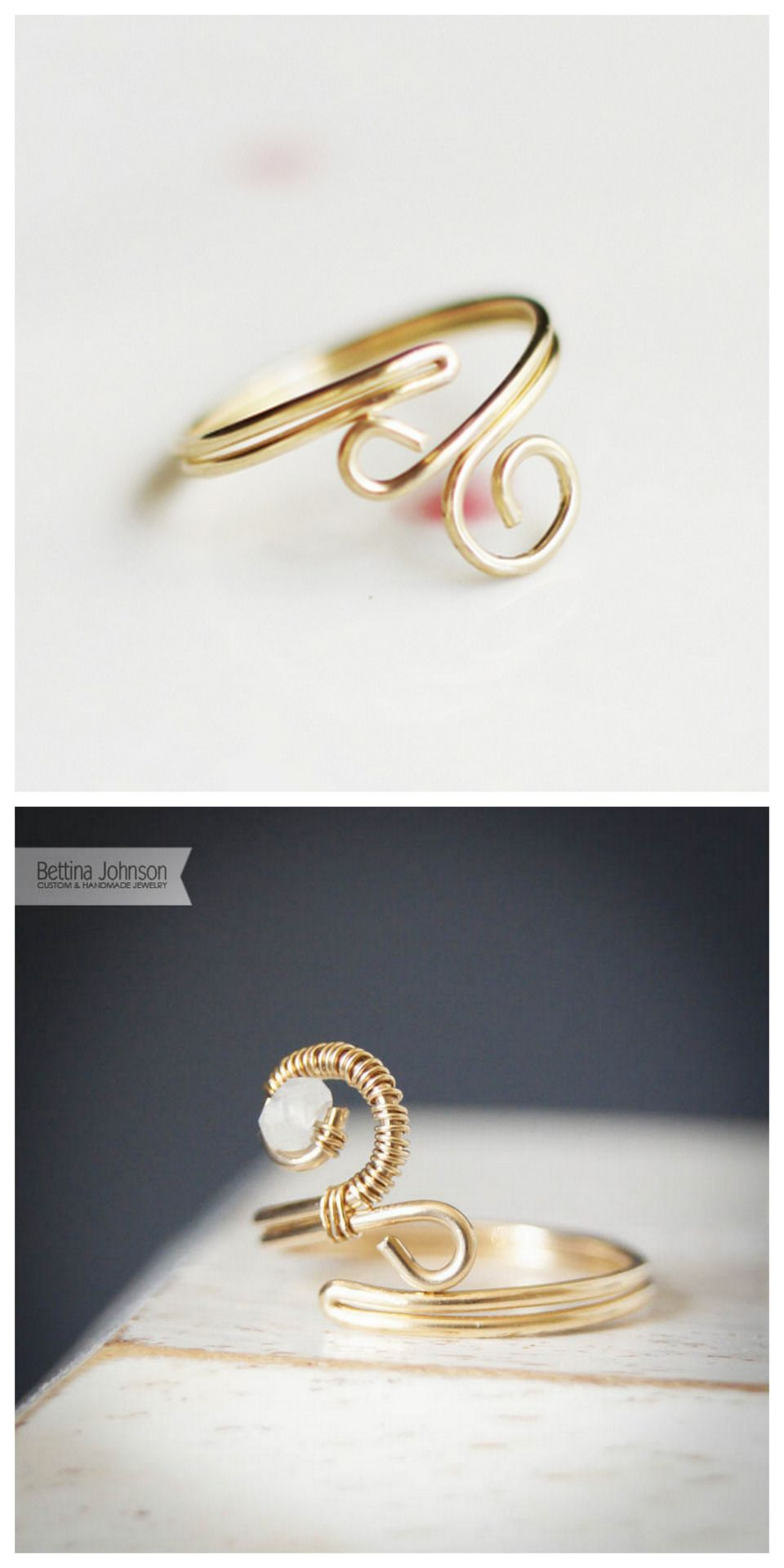DIY Wire Wrapped Ring Tutorial from Bettina\'s Blog here. She uses a ...