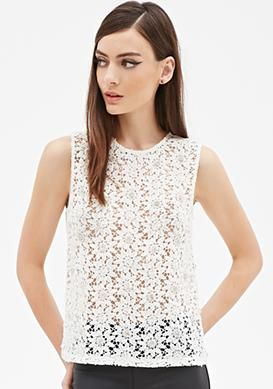 Forever 21 Crochet Top as seen in @stylewatchmag #F21 #tops #style