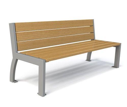 Banc en bois mezzo guyon mobilier urbain wood bench guyon urban furniture photoshop - Mobilier urbain banc bois ...